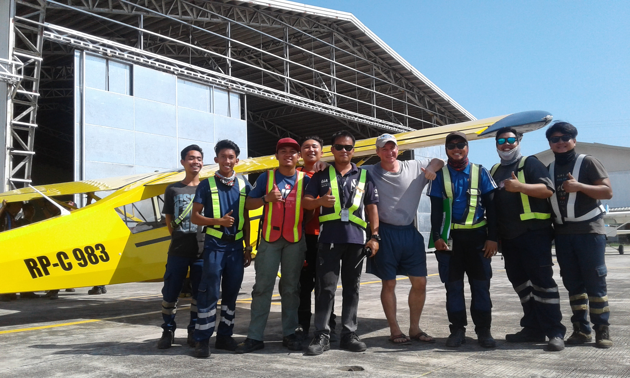 Flying Mt. Mayon in the Super Decathlon